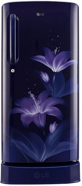 LG 190 L Direct Cool Single Door 4 Star Refrigerator (GL D201ABGX, Blue Glow)