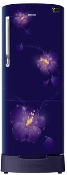 Samsung 192 L Direct Cool Single Door 3 Star Refrigerator (RR20N182ZU3, Rose Mallow Blue)