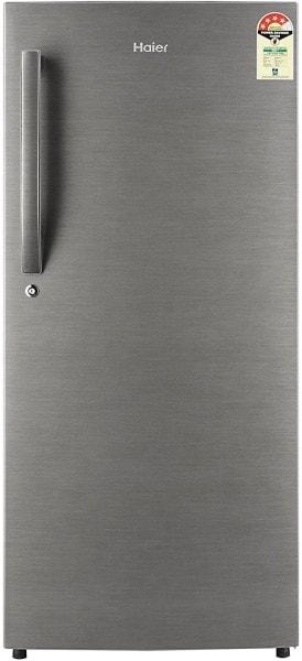 Haier 195 L Direct Cool Single Door 4 Star Refrigerator (HRD1954BSRE, Brushline Silver)
