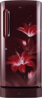 LG 215 L Direct Cool Single Door 4 Star Refrigerator (GL D221ARGY, Ruby Glow)