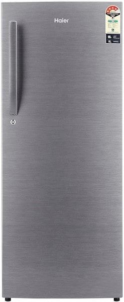 Haier 220 L Direct Cool Single Door 4 Star Refrigerator (HRD2204BSR, Brushline Silver)
