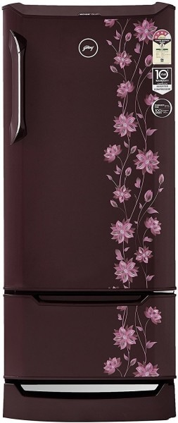 Godrej 225 L Direct Cool Single Door 4 Star Refrigerator (RD EDGE DUO 225 PD INV4.2, Erica Wine)