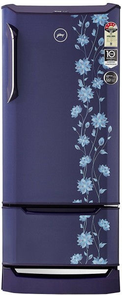 Godrej 255 L Direct Cool Single Door 4 Star Refrigerator (RD EDGE DUO 255 PD INV4.2, Erica Blue)