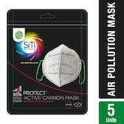 Dettol Siti Shield Carbon Activated Air Pollution Mask (Pack of 5)