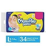 MamyPoko Pants Standard Diapers (34 PCS, L)