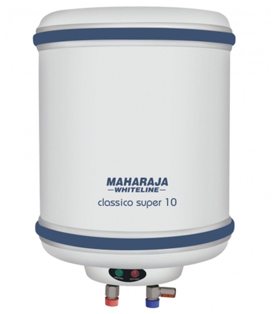 maharaja whiteline 10L Storage Water Geyser (Classico Super WH-142, Blue & White)