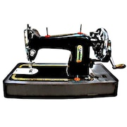 Handu Straight Manual Sewing Machine (Black)