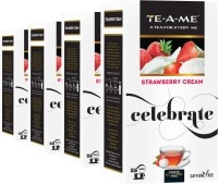 TE-A-ME Strawberry Infusion Tea (50GM, Pack of 4, 100 Pieces)
