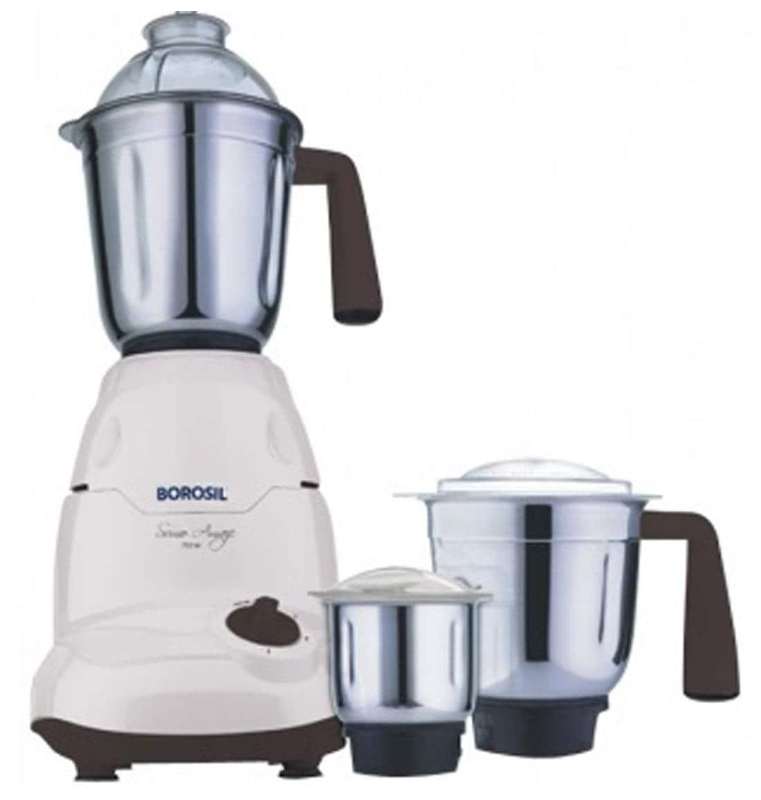 Borosil Sumo Amaze 750W Mixer Grinder (White, 3 Jar)