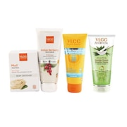 VLCC Sun Screen Gel And Scrub And Double Neem And Face Wash (150GM, Pack of 2)