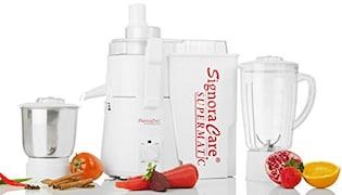 Signoracare Supermatic 900W Juicer Mixer Grinder (White, 2 Jar)