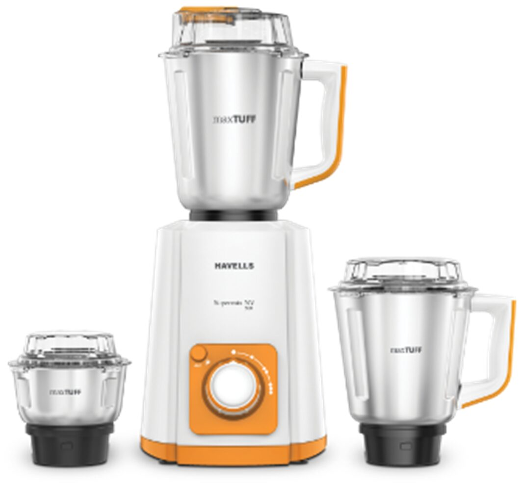Havells Suprmix Nv 500W Mixer Grinder (Orange, 3 Jar)