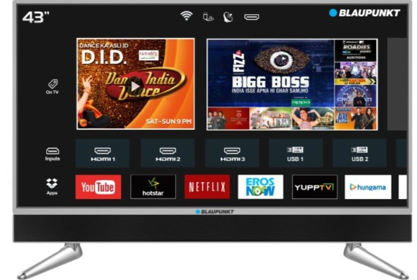 Blaupunkt 43 Inch LED Ultra HD TV (BLA43AU680)