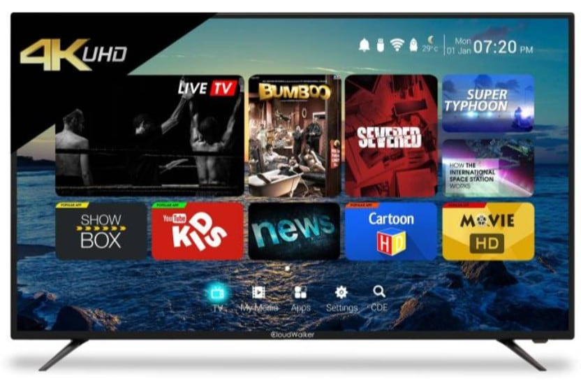 3a77fae63926 CloudWalker 50 Inch LED Ultra HD (4K) TV (CLOUD 50SU) Online at Lowest Price  in India