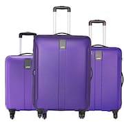 Safari Thorium Sharp Anti Scratch Luggage (Purple, Pack of 3)