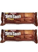 ARNOTTS Tim Tam Smooth and Crunchy Sandwich Biscuits (Chocolate, 94.5GM, Pack of 2)