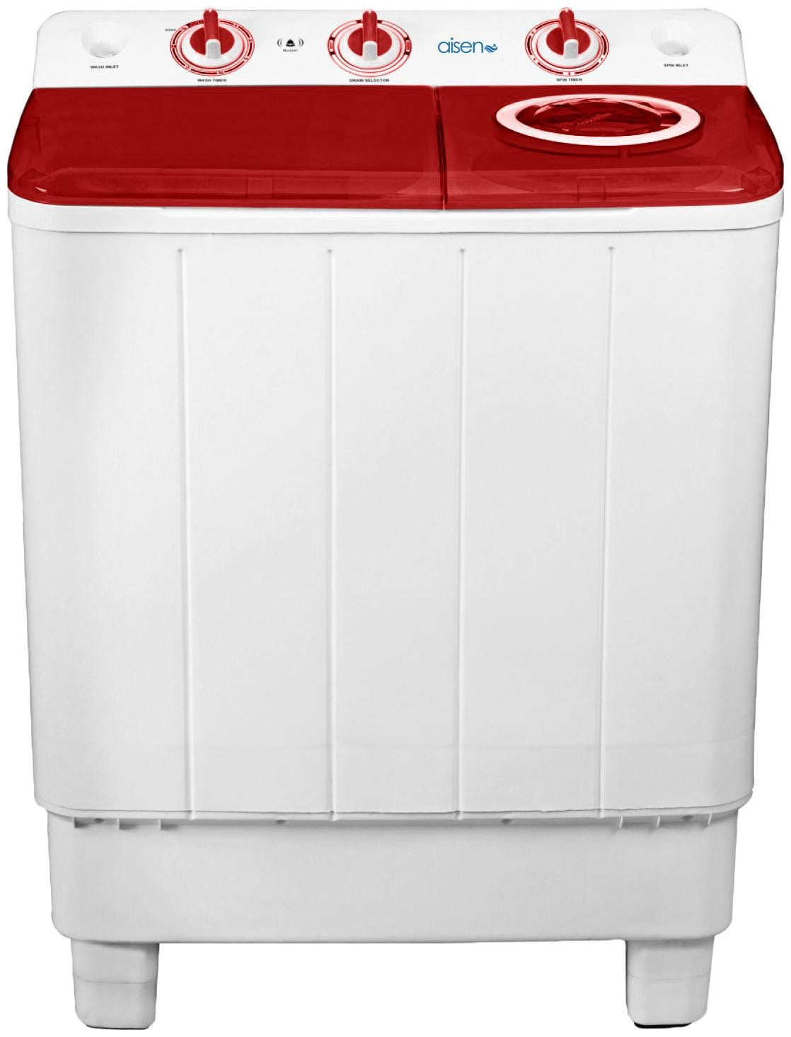 Aisen 7 kg Semi Automatic Top Load Washing Machine (A70SWM600-M, Maroon & White)