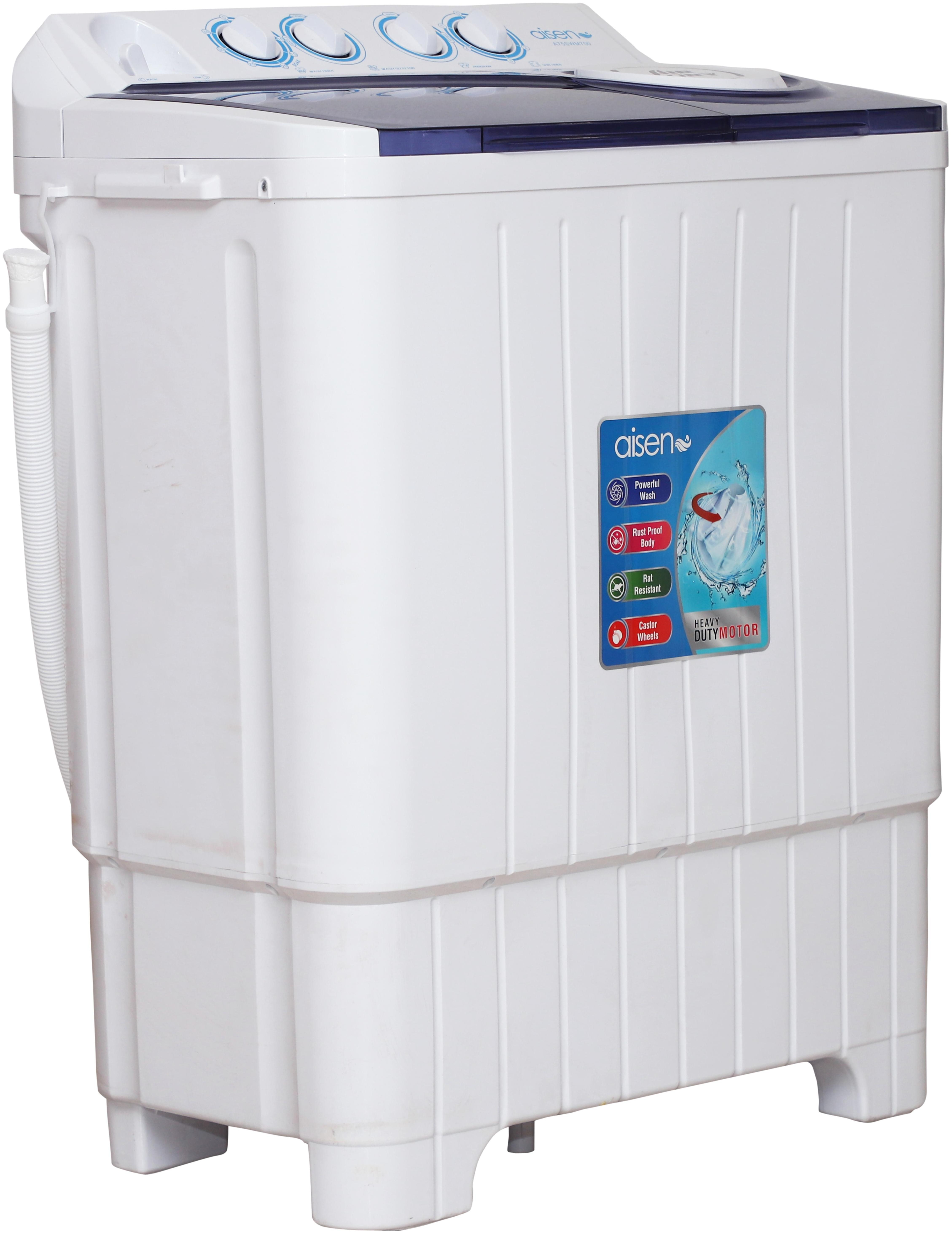 Aisen 7.5 kg Semi Automatic Top Load Washing Machine (A75SWM700-B, White)