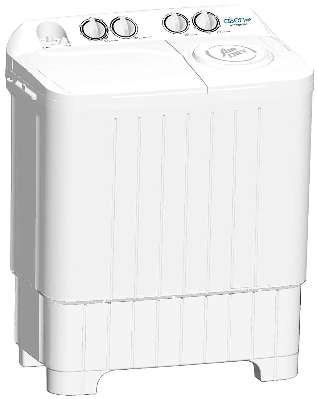 Aisen 7.5 kg Semi Automatic Top Load Washing Machine (A75SWM700-W, White)