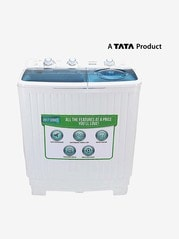 Croma 6.5 kg Semi Automatic Top Load Washing Machine (CRAW2202, White)