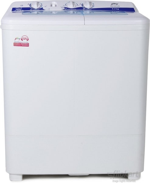 Godrej 6.2 kg Semi Automatic Top Load Washing Machine (GWS 6203 PPD, White)