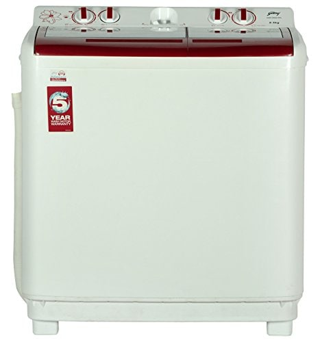 Godrej 8.5 kg Semi Automatic Top Load Washing Machine (GWS 8502 PPL, Red & White)