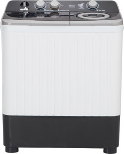 Haier 7 Kg Semi Automatic Top Load Washing Machine (HTW70-186S, White & Black)