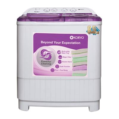 Koryo 8.5 kg Semi Automatic Top Load Washing Machine (KWM8518SA, Purple)
