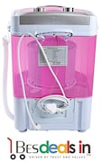Three Secondz 7 kg Semi Automatic Top Load Washing Machine (LE MINI, Pink & White)