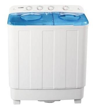 Lloyd 6.5 kg Semi Automatic Top Load Washing Machine (LWMS65SP, White & Blue)