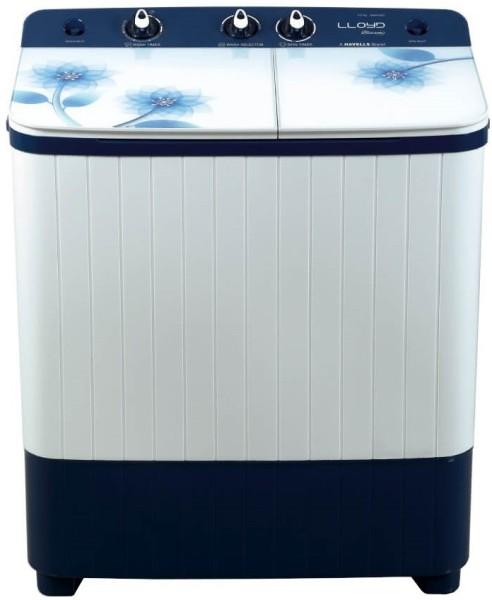 Lloyd 7 kg Semi Automatic Top Load Washing Machine (LWMS70BE1, White & Blue)
