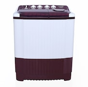 Lloyd 8 kg Semi Automatic Top Load Washing Machine (LWMS80BD, Burgundy)