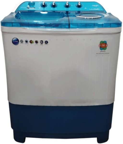 Lloyd 8 kg Semi Automatic Top Load Washing Machine (LWMS80BDB, White & Blue)
