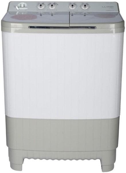Lloyd 8 kg Semi Automatic Top Load Washing Machine (LWMS80HT1, White & Grey)