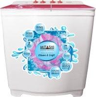 Mitashi 7.5 kg Semi Automatic Top Load Washing Machine (MISAWM75V12, Pink & White)