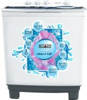Mitashi 8.5 kg Semi Automatic Top Load Washing Machine (MISAWM85V25, Grey & White)