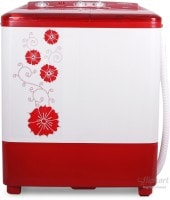 Panasonic 6.5 kg Semi Automatic Top Load Washing Machine (NA-W65B2 RRB, Red & White)