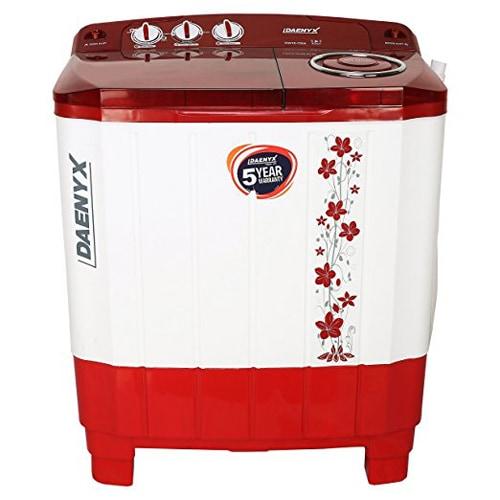 Daenyx 12 kg Semi Automatic Top Load Washing Machine (RAMBO, Black & White)