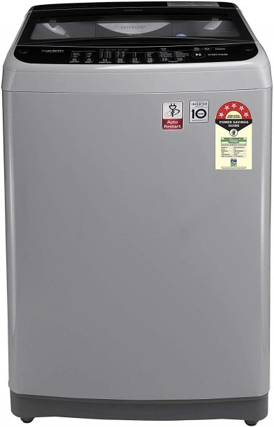 LG 6.5 kg Fully Automatic Top Load Washing Machine (T65SJSF3Z, Silver)