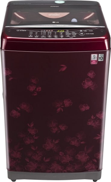LG 7 kg Fully Automatic Top Load Washing Machine (T8077NEDLX, Dark Red)