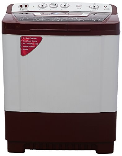 Videocon 8 kg Semi Automatic Top Load Washing Machine (WM VS80P14-DMK, Maroon & white)
