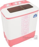 Intex 6.5 kg Semi Automatic Top Load Washing Machine (WMS65ST, Pink & White)