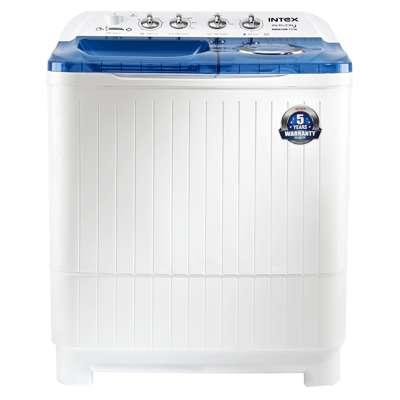 Intex 7.5 kg Semi Automatic Top Load Washing Machine (WMSA75AB, White)