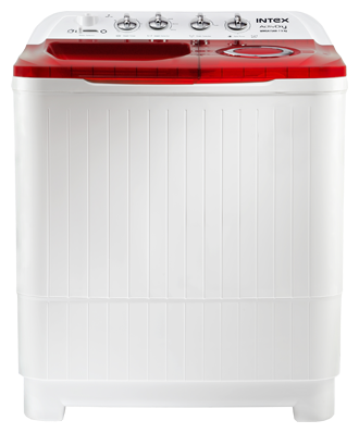 Intex 7.5 kg Semi Automatic Top Load Washing Machine (WMSA80, Red & White)