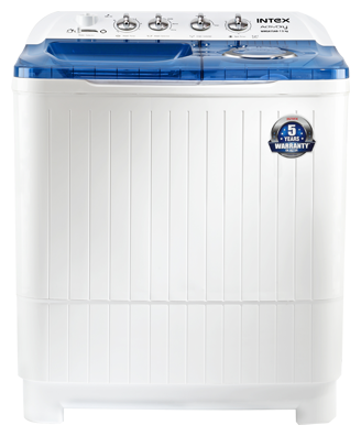 Intex 7.5 kg Semi Automatic Top Load Washing Machine (WMSA80AB, Blue & White)