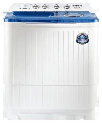 Intex 8.5 kg Semi Automatic Top Load Washing Machine (WMSA85AB, White & Blue)