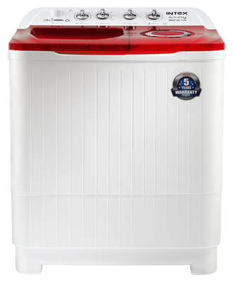 Intex 8.5 kg Semi Automatic Top Load Washing Machine (WMSA85AR, Red & White)