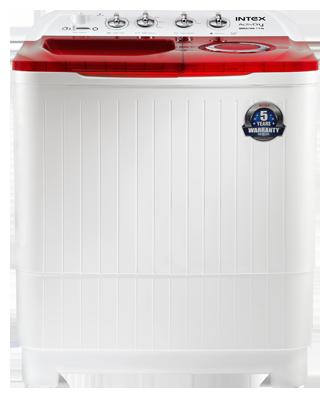 Intex 8.5 kg Semi Automatic Top Load Washing Machine (WMSA85AR, White & Red)