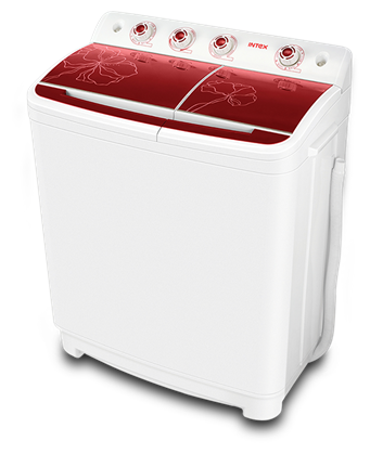 Intex 8.5 kg Semi Automatic Top Load Washing Machine (WMSA85GR, Red & White)