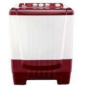 Onida 6.5 kg Semi Automatic Top Load Washing Machine (WO65SBT1LR, Maroon & White)